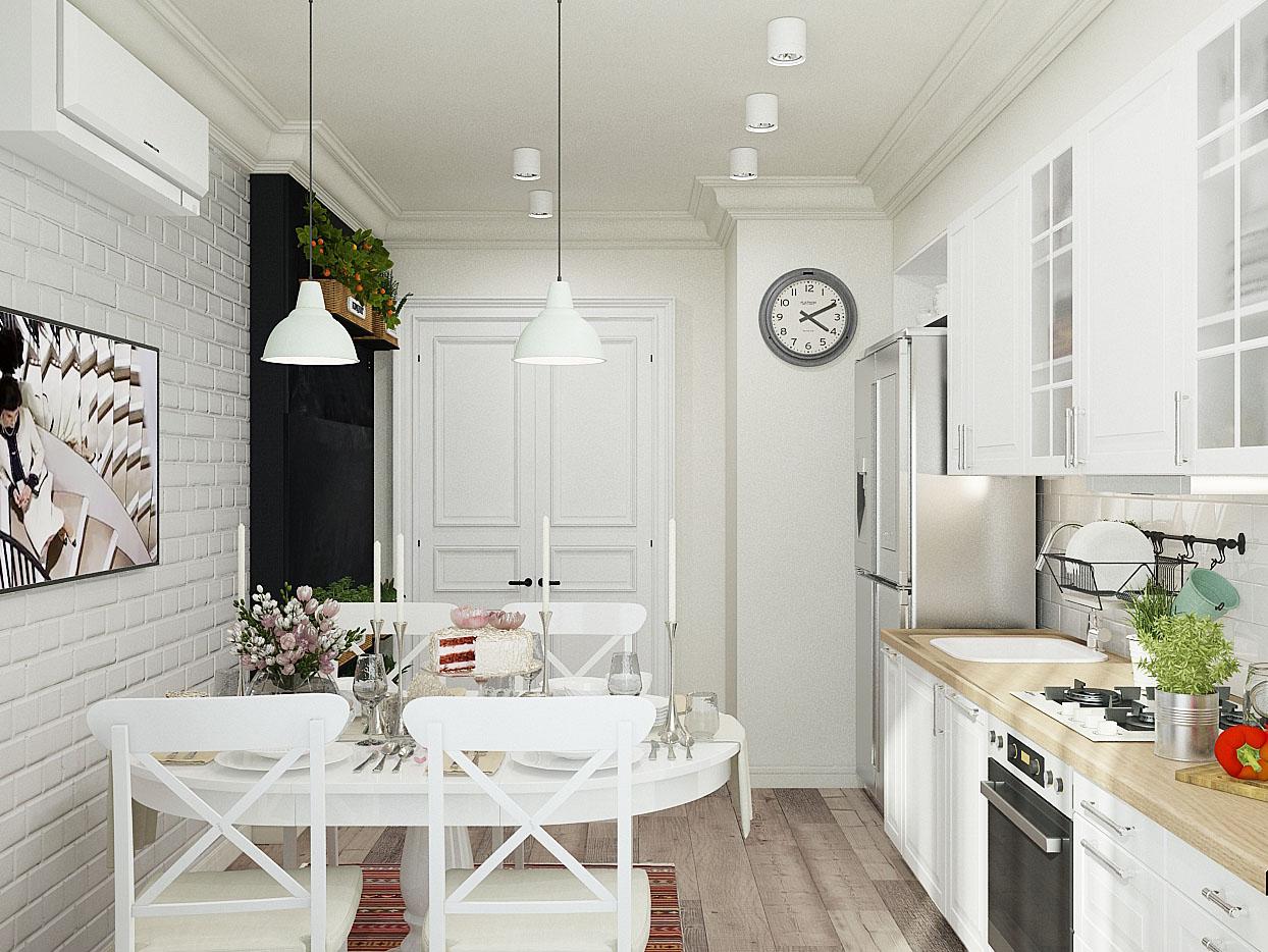 Скандинавский дизайн 4-комнатной квартиры: изыск и лаконичность
